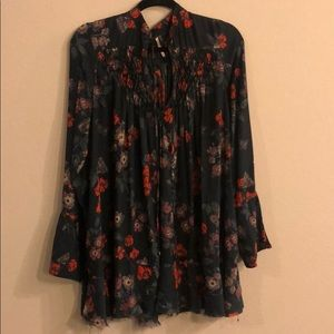 Free people butterfly floral tunic
